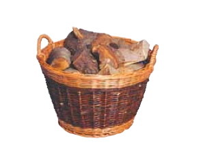 Round-log-basket