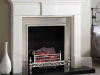 Ascot Electric Fire Basket with Chelsea Polished cast front and Pembroke Mantel