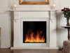 Riva2 Electric 70 with Victorian Corbel Mantel in Limestone