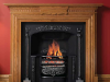 Regency Hob Grate, Ashpan cover, chatsworth rich oak mantel