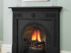Victorian Cast Iron Mantel, matt black.