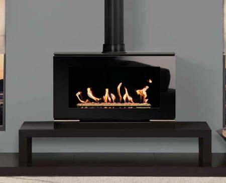 Gas-Riva-Vision-Large-(balanced-flue)-with-white-stone-fuel-effect